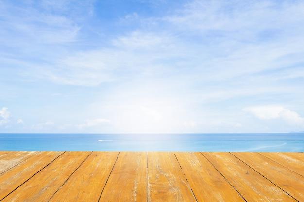 Sfondo del mare. legna Foto Premium