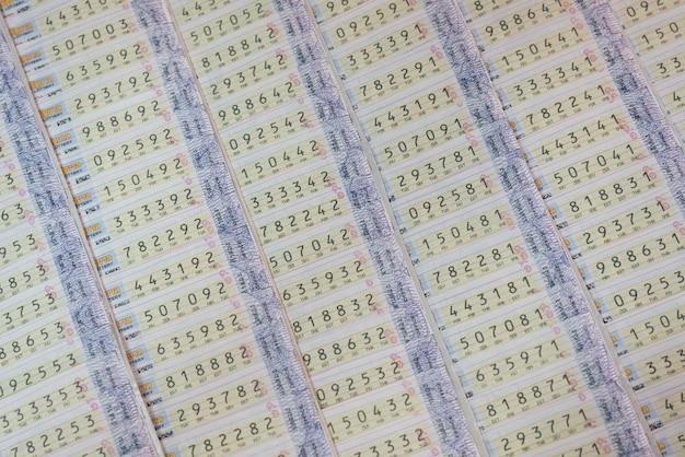 Sfondo della lotteria thailandese Foto Premium