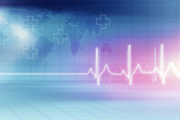 Sfondo di assistenza sanitaria medica Foto Premium