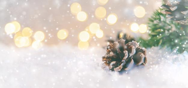 Sfondo di auguri di buon natale e felice anno nuovo, vacanze. Foto Premium