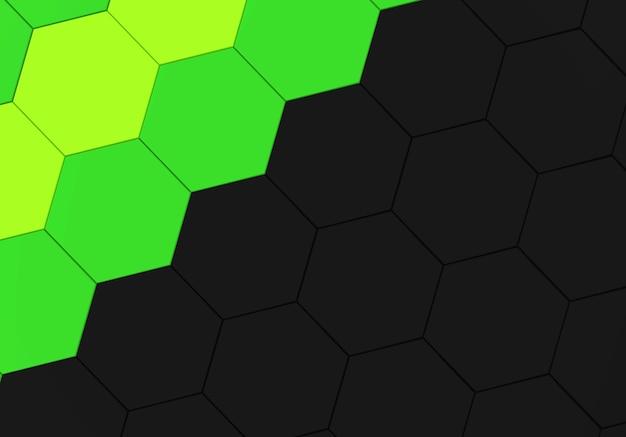 Sfondo Di Colore Verde E Nero Forma Esagonale Modello Parete