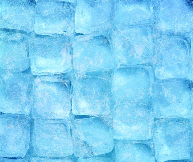 Sfondo di cubetti di ghiaccio Foto Premium