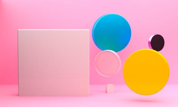 Sfondo di figure geometriche astratte minimalista Foto Premium