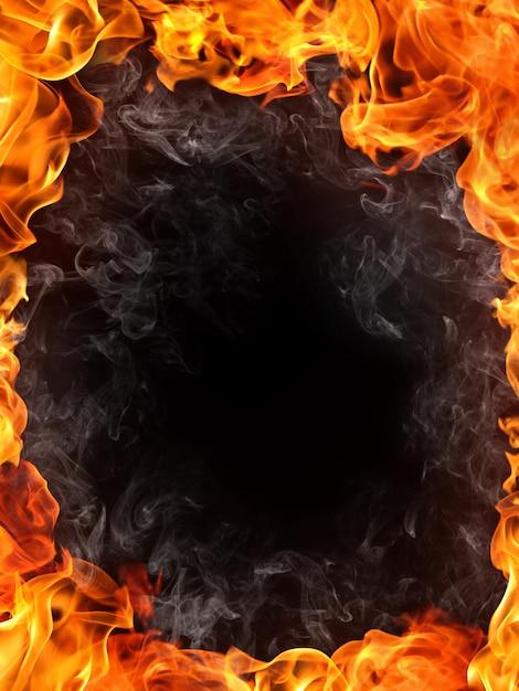 Sfondo di fuoco Foto Premium