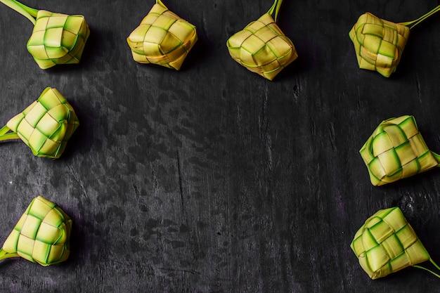Sfondo di gnocco di riso Foto Premium