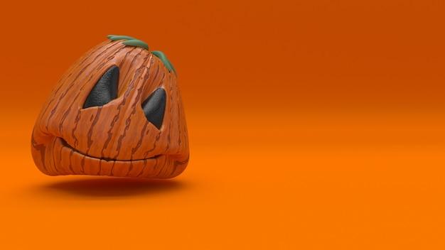 Sfondo di halloween 3d con zucche Foto Gratuite