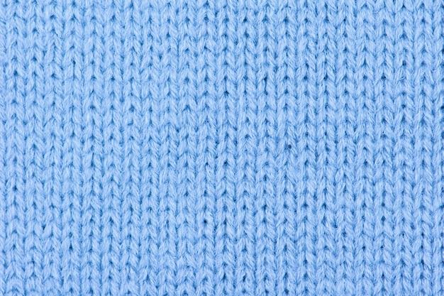 Sfondo di lana blu a maglia. Foto Premium