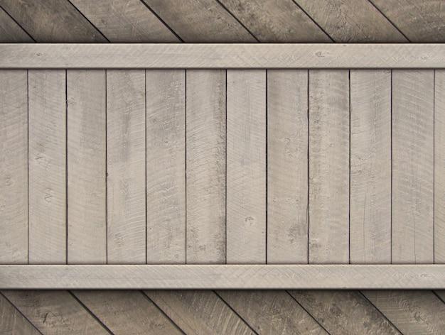 Sfondo di legno d'epoca con legno decorativo per modello Foto Premium