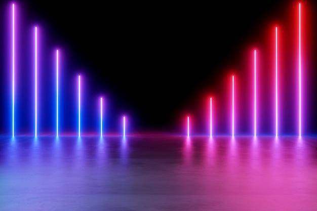 Sfondo di luci al neon. Foto Premium