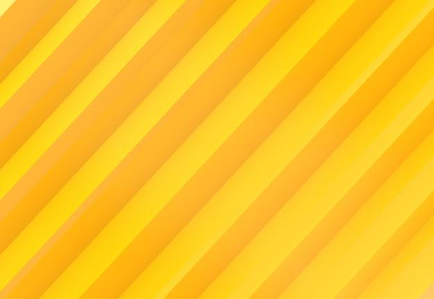 Sfondo di muro di barre di pannello parallelo colore tono moderno diagonale giallo tonalità. Foto Premium