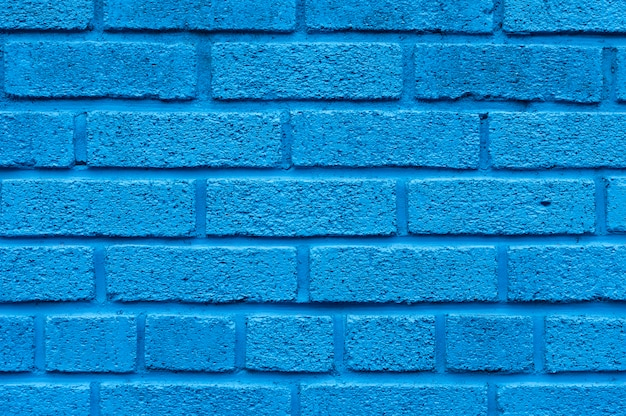 Sfondo di muro di mattoni blu Foto Gratuite
