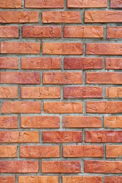 Sfondo di muro di mattoni rossi Foto Premium