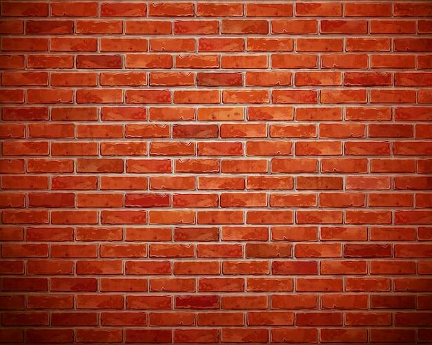 Sfondo di muro di mattoni rossi. Foto Premium