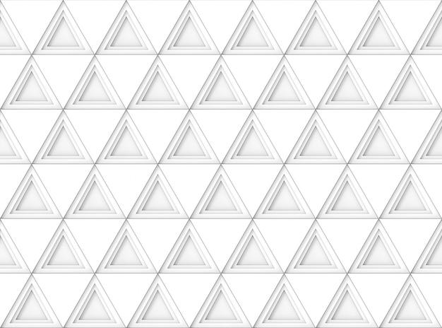 Sfondo di muro modello piastrella forma moderna senza soluzione di continuità triangolo bianco. Foto Premium