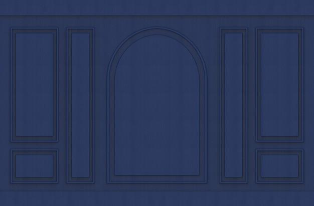Sfondo di muro vintage design moderno blu scuro modello lussuoso moderno. Foto Premium