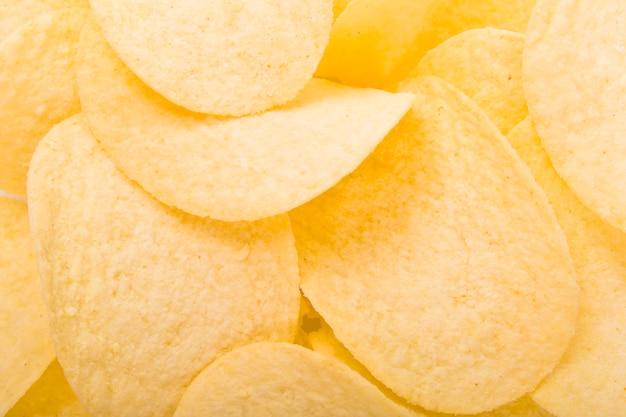 Sfondo di patatine fritte Foto Premium