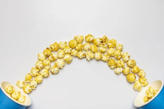 Sfondo di popcorn Foto Premium