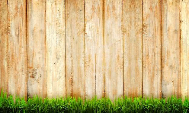 Sfondo di recinzione in legno Foto Premium