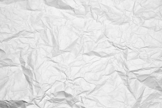 Sfondo Di Un Bianco Carta Stropicciata Scaricare Foto Premium
