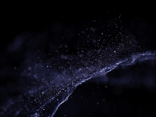 Sfondo futuristico 3d con design di particelle Foto Gratuite