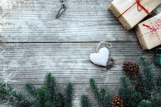 Regali Di Natale In Legno.Sfondo Natale Regalo Di Natale Regali Di Natale E Decorazione