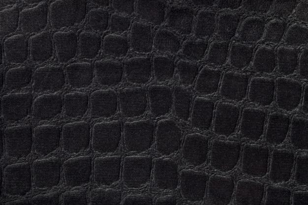 Sfondo nero da un morbido materiale tessile da tappezzeria Foto Premium