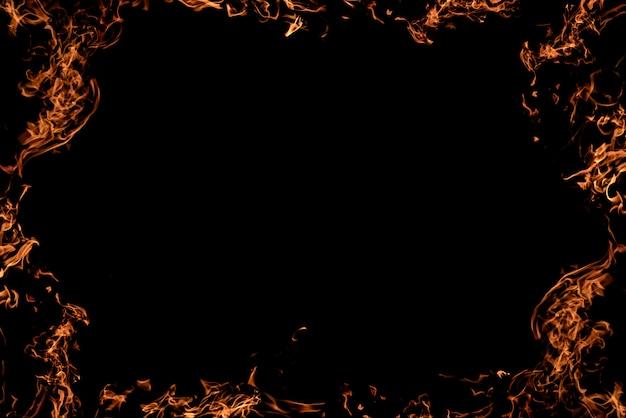 Sfondo nero in fiamme. Foto Premium