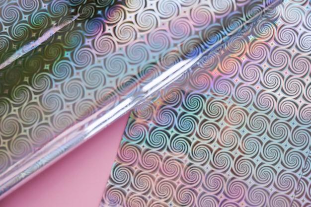 Sfondo olografico con tendenze rosa e moderne. Foto Premium