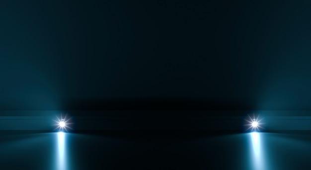 Sfondo percorso futuristico con illuminazione chiara Foto Premium