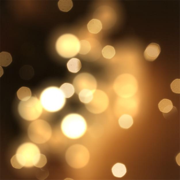 Sfondo scintilla di natale con stelle e luci bokeh Foto Gratuite