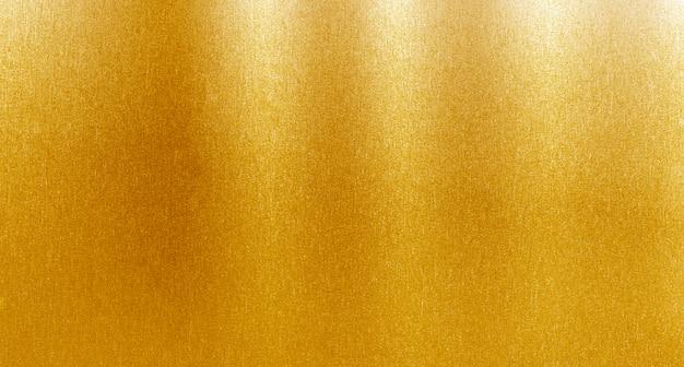 Sfondo spazzolato metallo oro Foto Premium