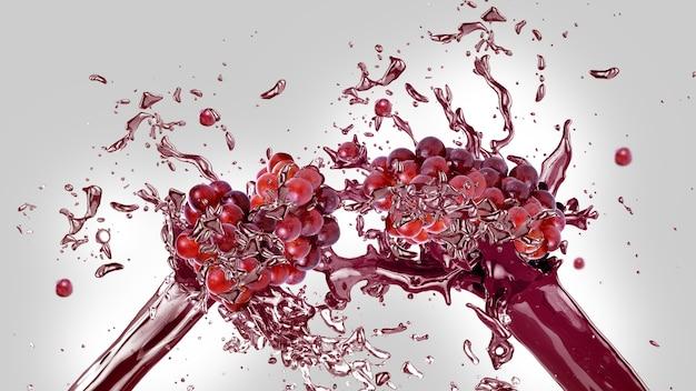Sfondo splash di succo di uva Foto Gratuite