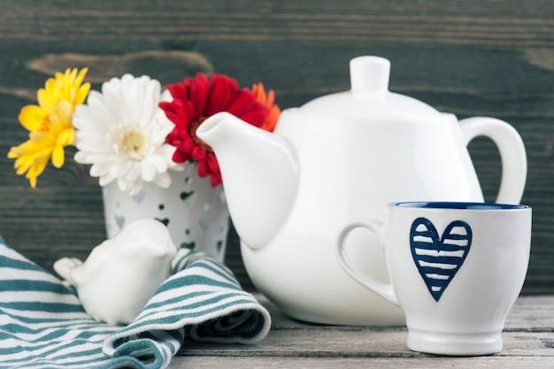 Sfondo tempo del tè Foto Premium