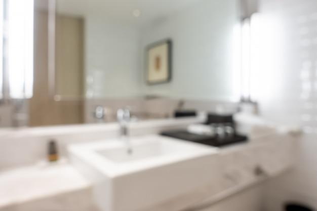 Sfuocatura astratta bagno interno per lo sfondo Foto Premium