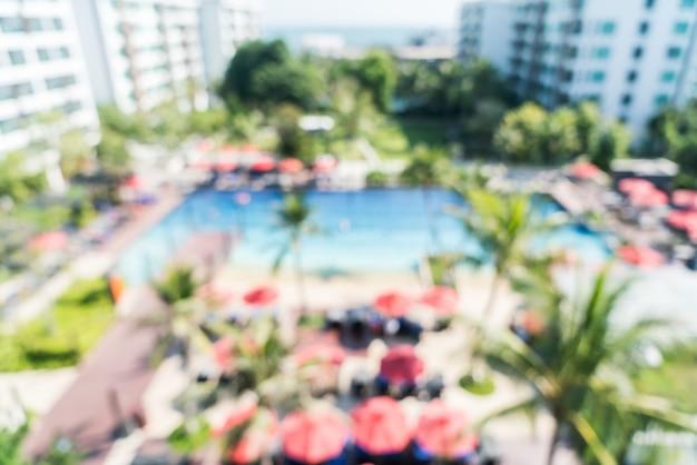 Sfuocatura astratta del ricorso dello stagno dell'hotel Foto Gratuite