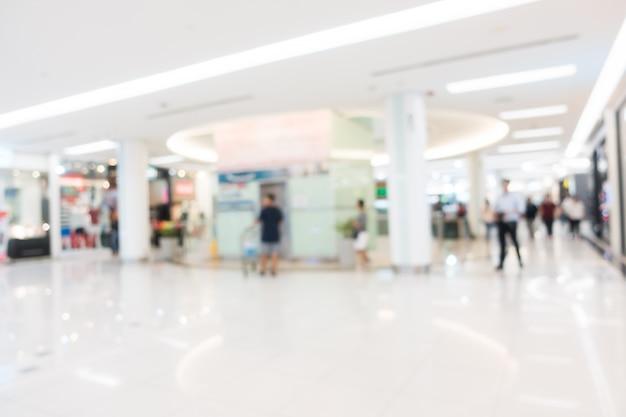 Sfuocatura astratta e centro commerciale defocused Foto Gratuite