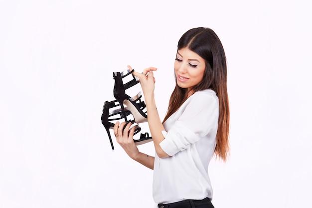 Shopping nel negozio di moda Foto Premium