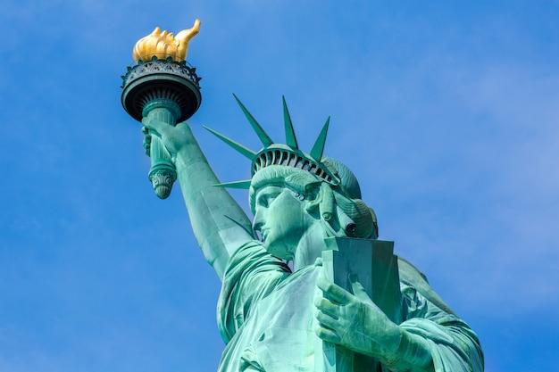 Simbolo americano di usa della statua della libertà di new york Foto Premium