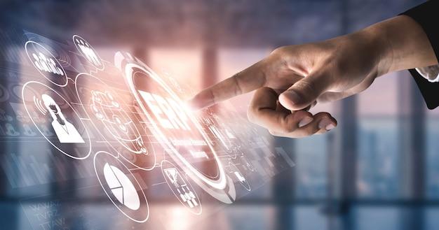 Sistema software erp per la gestione delle risorse aziendali per il piano delle risorse aziendali Foto Premium