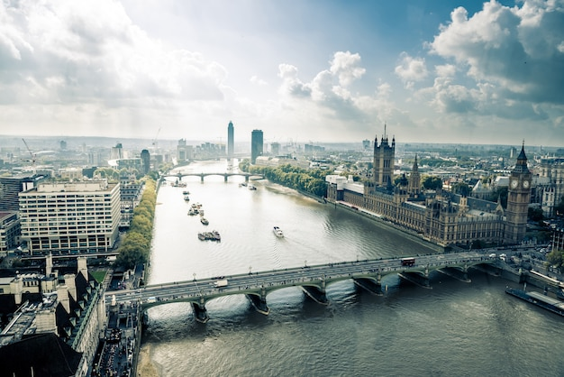 Skyline della città di londra, regno unito Foto Premium