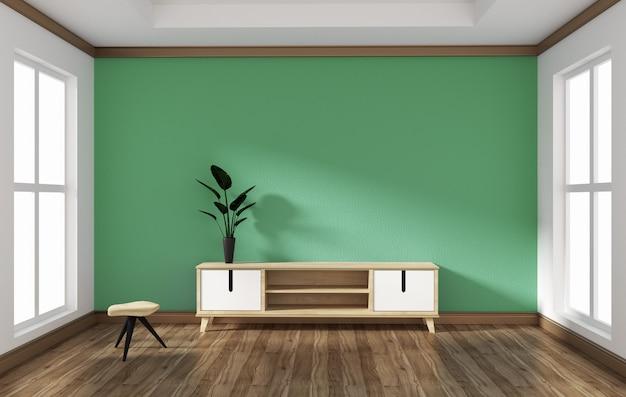Smart tv nel design della sala stile vuota. 3d redente Foto Premium