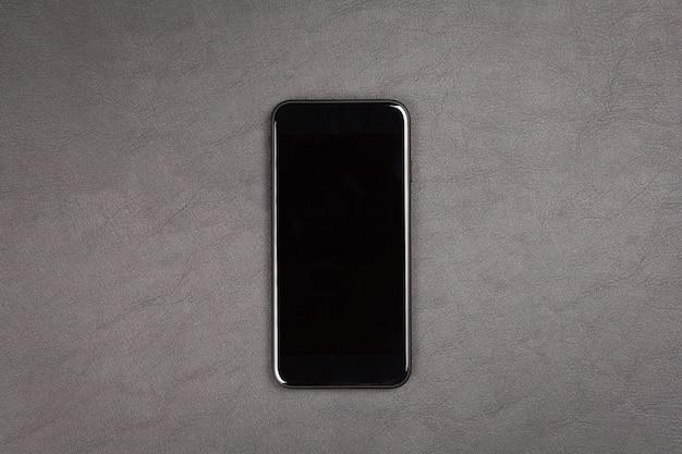Smartphone moderno nero Foto Premium