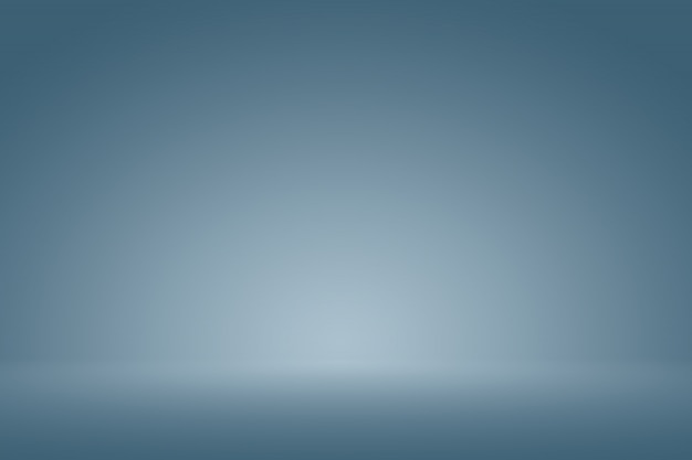 Smooth blue scuro con la vignetta nera studio bene usa come priorità bassa, rapporto di affari, digitale, modello di web site. Foto Premium