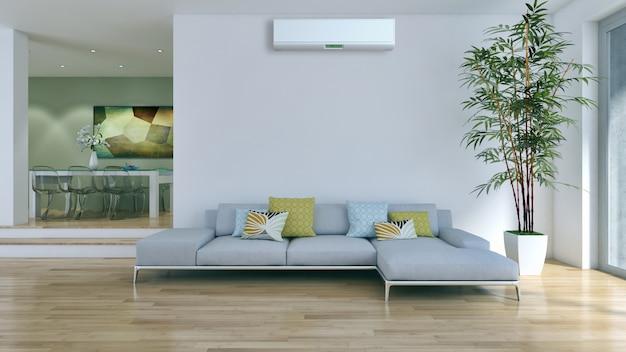 Soggiorno con aria condizionata Foto Premium