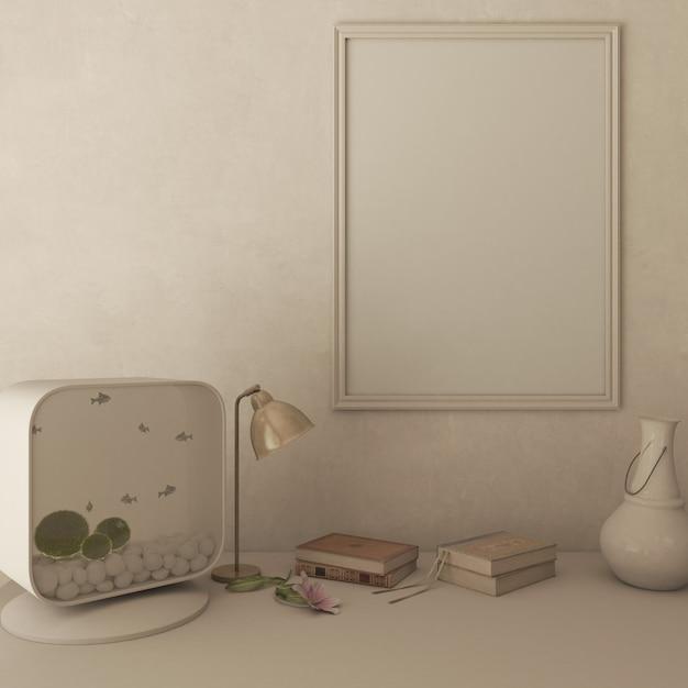 Soggiorno contemporaneo 3d arredamento interno e moderno Foto Gratuite