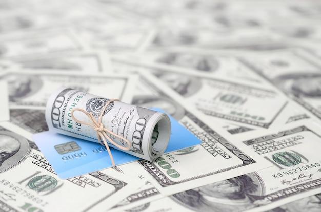 Soldi americani e servizi bancari virtuali moderni online Foto Premium