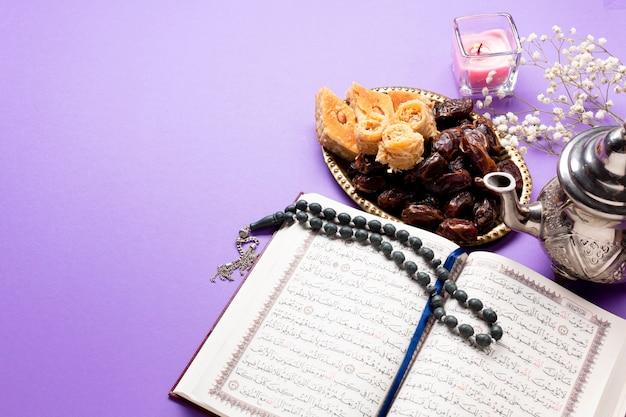 Sopra la vista cultura religiosa musulmana Foto Gratuite
