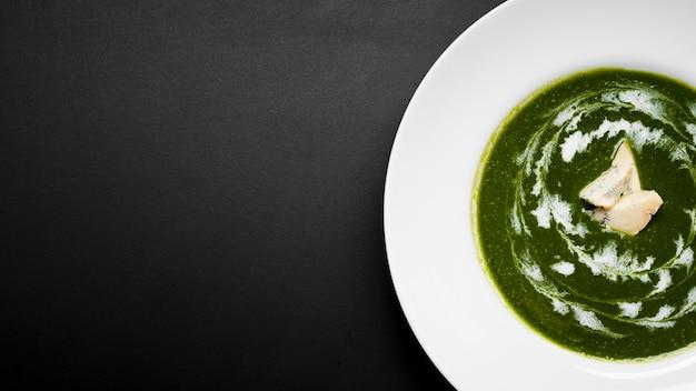 Spazio delizioso della copia della minestra di broccoli Foto Gratuite