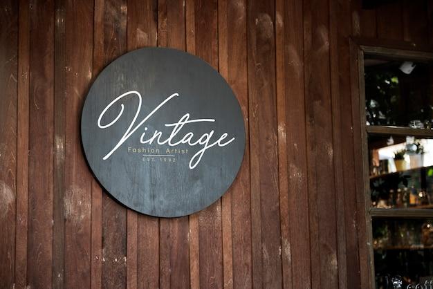 Spazio progettuale della parete in legno Foto Premium