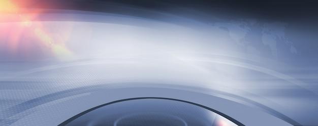 Spazio vuoto astratto 3d studio con lens flare in alto a sinistra Foto Premium